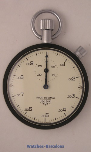 HEUER Chronograph stop watch Hour Decimal